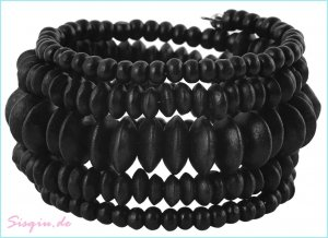 "Wickelarmband schwarz ""beautiful Black"" Sisqiu.de NEU NEU NEU"