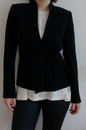 Wickelblazer schwarz Zara