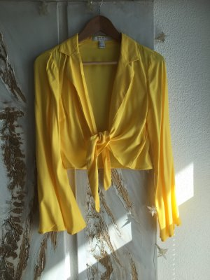 Forever 21 Wraparound Blouse yellow