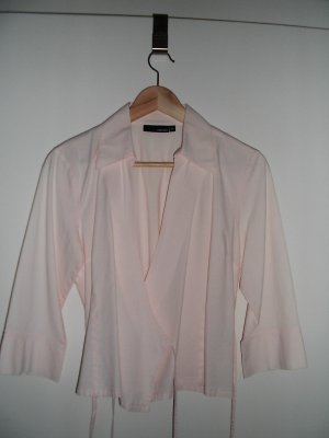 Wraparound Blouse light pink cotton