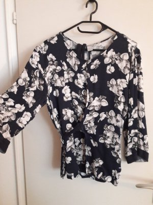 H&M Wraparound Blouse dark blue