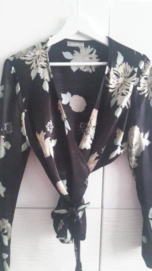 Wickelbluse aus glänzender Viskose
