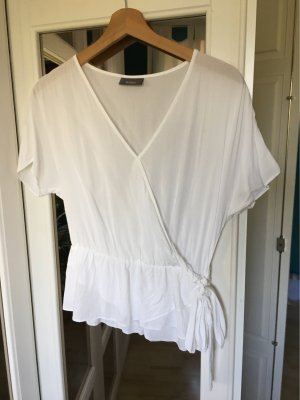 Yessica Wraparound Blouse white
