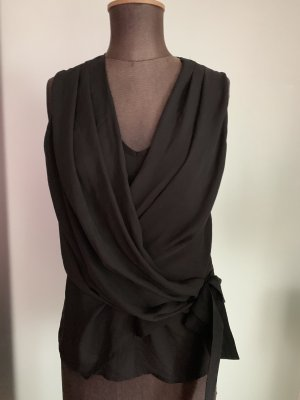 Wickelbluse Bluse Top Chiffon Gr 36 38 S von H&M