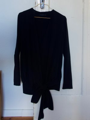 COS Blusa cruzada azul oscuro tejido mezclado