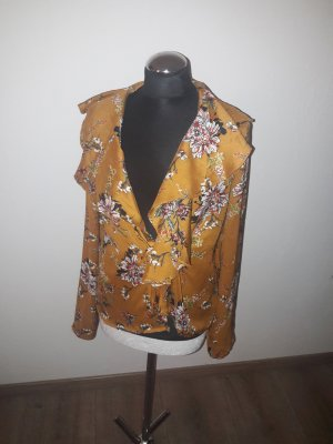 Wraparound Blouse gold orange