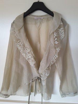 Bottega Blusa in merletto beige chiaro