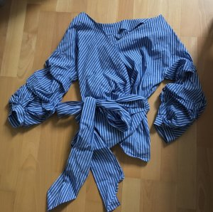 Zara Blouse blanc-bleuet