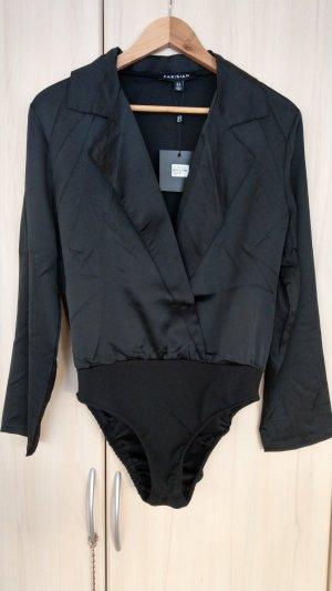 Asos Blusa tipo body negro