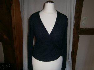 Promod Cache-cœur en tricot bleu foncé viscose