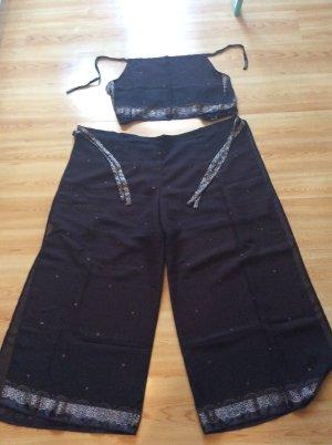 Strandkleding beige-zwart