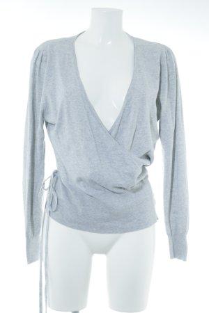 Giacca aderente grigio chiaro stile casual