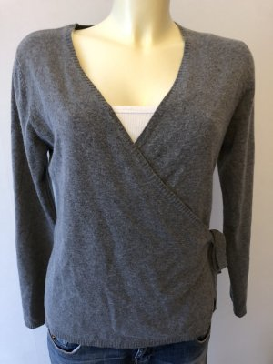 Public Knitted Wrap Cardigan grey