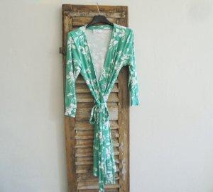 Gina Benotti Robe portefeuille vert-blanc