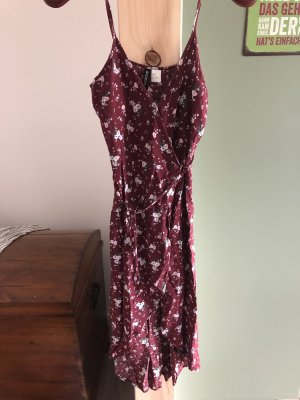 H&M Robe portefeuille bordeau-rosé