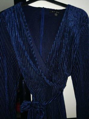 Vestido cruzado azul-negro