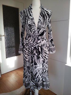 Roberto Cavalli Robe portefeuille blanc-noir