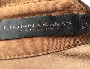 Donna Karan Vestido cruzado marrón