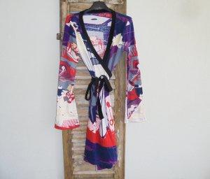 Vestido cruzado multicolor
