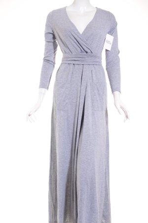 Shine Wickelkleid grau meliert klassischer Stil