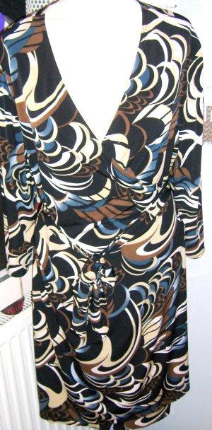 Wickelkleid Halblang Braun Design