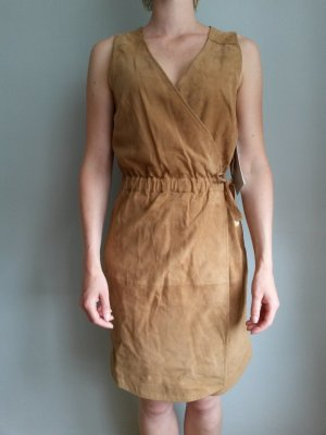 ODEON Leather Dress camel