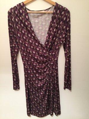 -8- Venice Robe portefeuille multicolore viscose