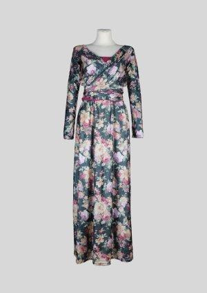 Vestido de manga larga multicolor Fibra sintética
