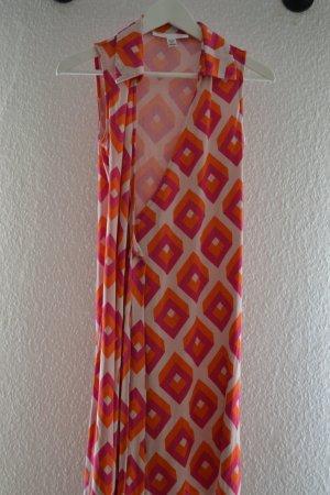 Wickelkleid mit Kragen von DIANE VON FURSTENBERG VINTAGE geometrische Muster
