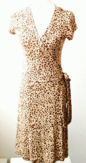 Wickelkleid mit Leoprint RESERVIERT