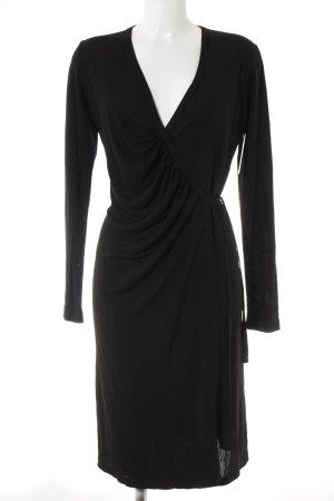 Wickelkleid schwarz klassischer Stil