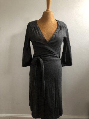H&M Robe portefeuille gris foncé-gris anthracite