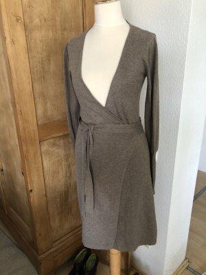 Blaumax Vestido cruzado marrón grisáceo