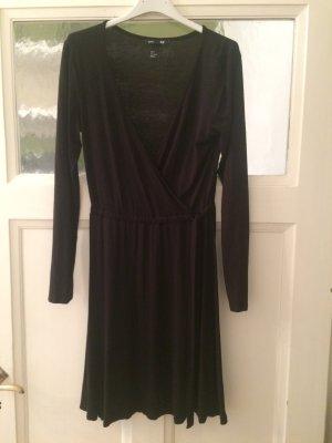Wickelkleid von H&M in schwarz Gr.S