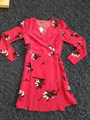 Wickelkleid Wickel Minikleid Vila Gr. L (40) 3/4 Arm € 60,- Kleid Pink Blumenkleid