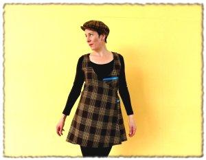 Robe portefeuille multicolore laine