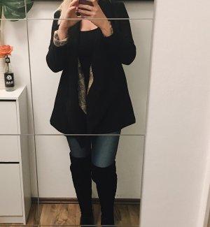 Veste cache-coeur noir