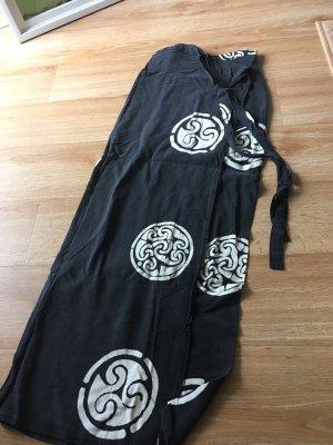 Jupe portefeuille noir-blanc