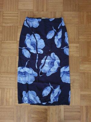 Zijden rok donkerblauw-azuur