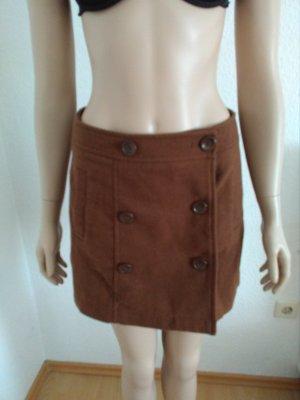 Falda cruzada marrón-coñac
