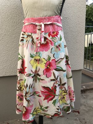 Oilily Wraparound Skirt white-pink