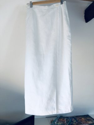 Louis Feraud Wraparound Skirt white linen