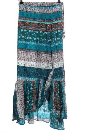Wraparound Skirt mixed pattern beach look