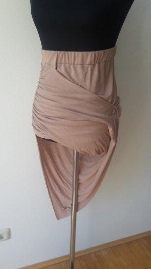 Wickelrock Oberteil Asymmetrisch Nude Rosè Größe XS-S