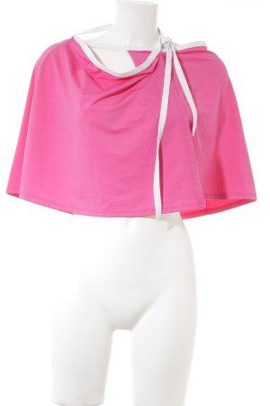 Falda cruzada rosa-blanco Estilo playero