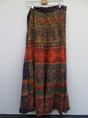 Vintage Maxi Skirt neon orange