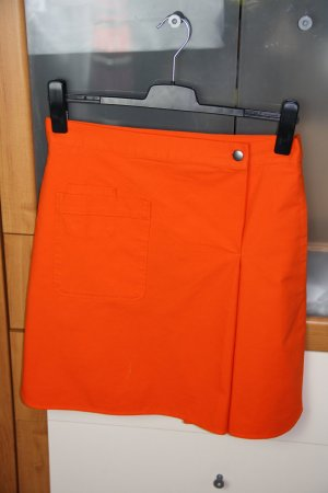 COS Wraparound Skirt orange cotton