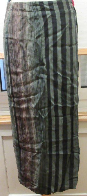 Wickelrock von Hirsch, wadenlang, Grün, braun, schwarz Gr. 42