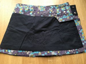 Moshiki Wikkelrok blauw-paars-zwart Katoen