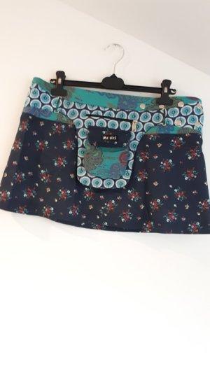 Moshiki Jupe portefeuille bleu foncé
